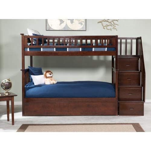 Atlantic Furniture Staircase Bunk Bed With Urban Trundle Bed Twin
