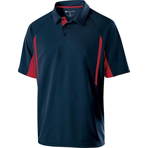 Holloway Sportswear Avenger Short-Sleeve Polo Shirt. 222530 Navy / Scarlet M (Sportswear Short Sleeve)