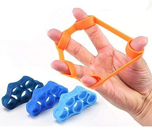 GR!P Hand Strengthener Band, Grip Strength, Hand Grip Exerciser, Grip Exerciser, Hand Resistance Bands, Finger Exerciser, Hand Exerciser, Target- Hand Grip, Finger Strength, Stress Relief, 3 PCS For Sale