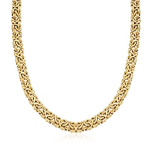 Ross-Simons 18kt Gold Over Sterling Silver Byzantine Necklace