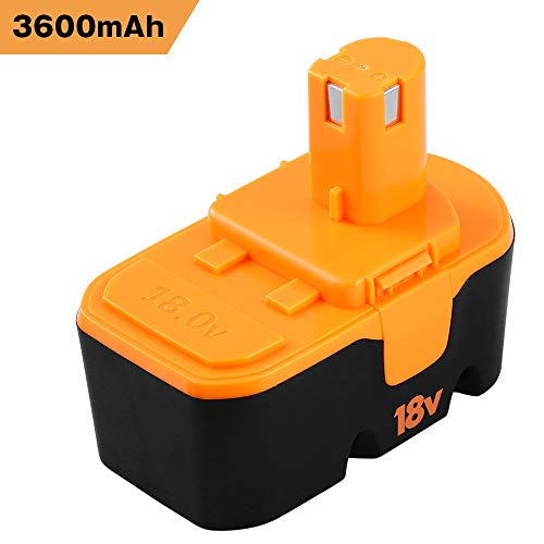 Upgraded 3600mAh P100 Replacement for Ryobi 18V Battery ONE+ P100 P101 ABP1801 ABP1803 BPP1820 Cordless Power Tools