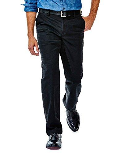Haggar Men's Performance Cotton Solid Slim Fit Plain Front S