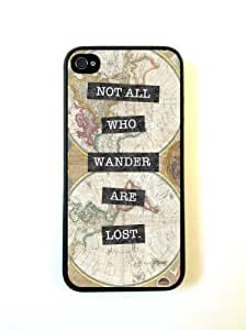 iPhone 5 5S Case ThinShell Case Protective iPhone 5 5S Case Vintage Map Not All Who Wander Are Lost Kimberly Kurzendoerfer
