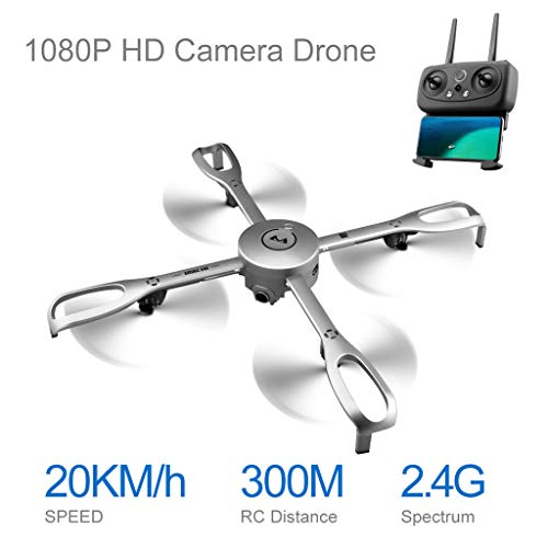 Cywulin RC Quadcopter Foldable Drone 1080P HD WiFi FPV Camera Live Video, GPS Return Home, Follow Me, Long Control Range Altitude Hold, Intelligent Modular Battery for Kids Adults Beginners -