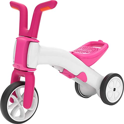 Chillafish Bunzi: 2-in-1 Gradual Balance Bike & Tricycle, White/Pink