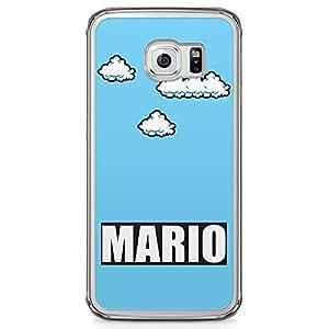 Loud Universe Mario Samsung S6 Edge Case Simple Retro Style Samsung S6 Edge Cover with Transparent Edges