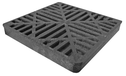NDS 980G 9-Inch Square Grate, Black ()