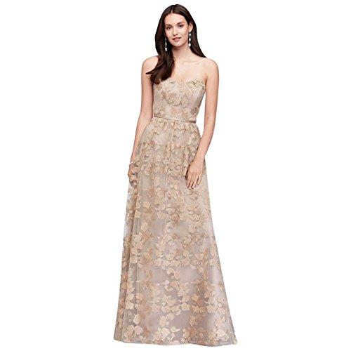 bfa90c8024 Home Bride Dresses David s Bridal Embroidered Long Strapless Bridesmaid  Dress Style OC290028