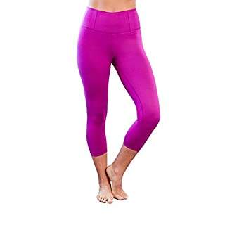 Manduka Women's Essential Capri 4-Way Stretch Yoga Legging, Small, Orchid