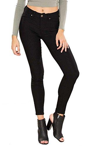 - YMI Women's Hyperstretch Midrise Skinny, Black, L