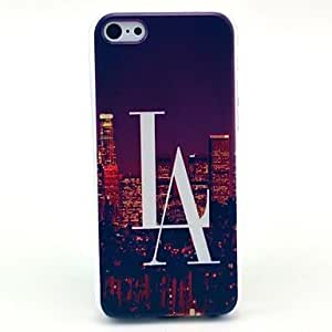 QYF Las Vegas City View Pattern Hard Case for iPhone 5C