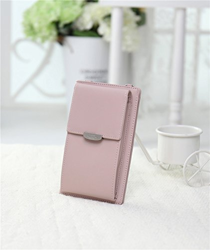 Pink Women Strap with Handbag Lady Light Wristlet Shoulder For Cell NYKKOLA Crossbody Purse Bag Wallet Small Girls Mini Phone vZwUpqx67