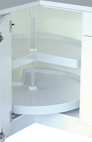 Kücheneckschrank 80x80  Drehboden 3/4 Kunststoff Karussell Eckschrank Rondell: Amazon.de ...