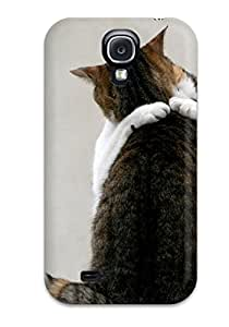 Galaxy High Quality Hard Case/ Cat Hugging Each Other Case Cover For Galaxy S4 1256044K89919448