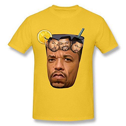 Day Tea Party T-shirt - Men's Ice Cube Got Tea Lemon Glass Spoof Gold Tshirts