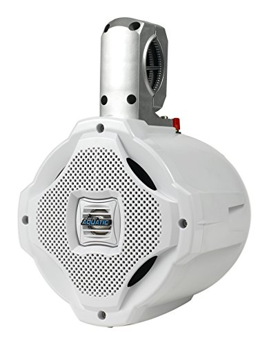 Lanzar Marine 6.5'' Bluetooth Wakeboard Speaker [Active-Powered Marine Tower Speaker] 2-Way Water Resistant | 1000 Watt (AQAWBS64WT) (Outdoor Tower Speaker)