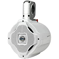 Lanzar Marine 6.5 Bluetooth Wakeboard Speaker [Active-Powered Marine Tower Speaker] 2-Way Water Resistant | 1000 Watt (AQAWBS64WT)