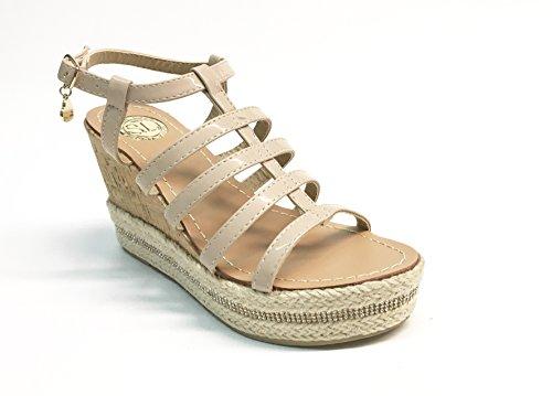 SARA LOPEZ - Sandalias de vestir de Material Sintético para mujer multicolor multicolor 35 Beige