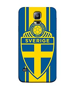 ColorKing Football Sweden 14 Multi Color shell case cover for Samsung S5