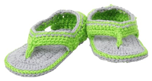 Jefferies Socks Baby-Girls Newborn Sporty Sandal Girl Bootie, Lime, Newborn