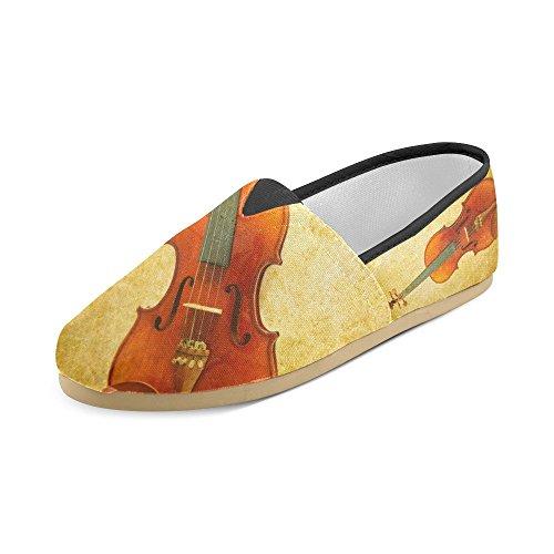 D-story Mode Sneakers Lägenheter Motorcykel Och Usa Sjunker Kvinna Klassisk Slip-on Canvas Skor Loafers Violin 1
