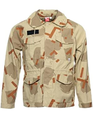 'Sport Lifestyle' Men's Khaki Camo Military Jacket