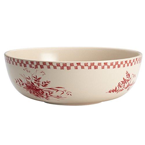 BonJour Dinnerware Chanticleer Country Stoneware Round Serving Bowl, 9
