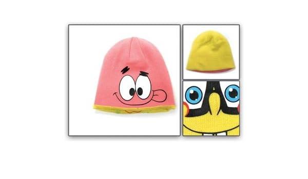 50067e0967ce9 Amazon.com  Beanie Cap - Spongebob Square Pants - New Patrick 2-Face Hat Hat  66019spo  Toys   Games