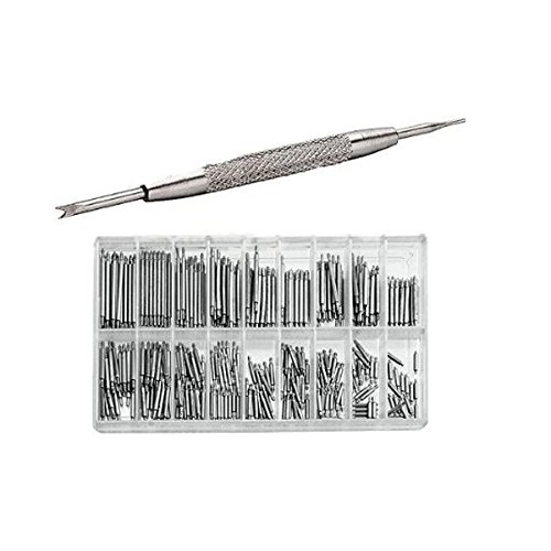(WINOMO 360pcs 6mm-23mm Watch Band Pins Link Spring Bars Remover Tool Stainless Steel)