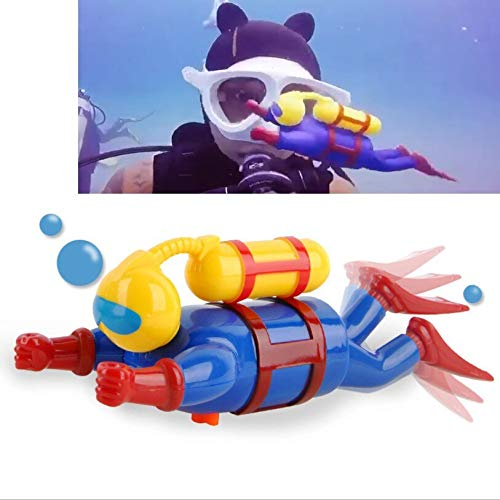 HaiDepTrai Diving Toy Children's Toys On The Chain Diver Figurine Dive People Wind Swimming Bath Toys Diving Pool Accessories Play Toys