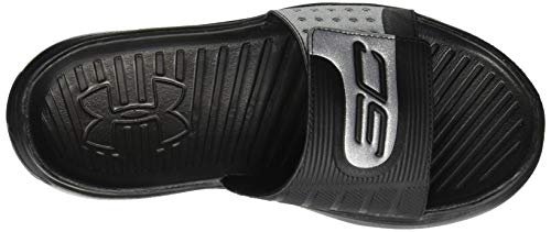 Slide 002 Curry IV Black Armour Black Under Sandal Men's wnR0qP
