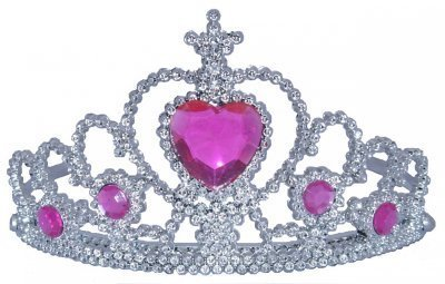 Rhode Island Novelty Tiara with Pink Heart Jewel One Size - coolthings.us
