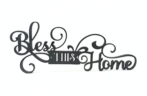 Bless This Home Word Art Wood Cutout