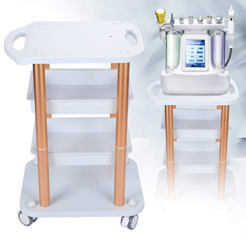 Beauty Salon Trolley,Hairdressing Cart with 3 Tiers – High Strength Bearing Beauty Salon Locking Rolling Trolley,Suitable for Beauty Shop, Spa, Barber Shop, Home