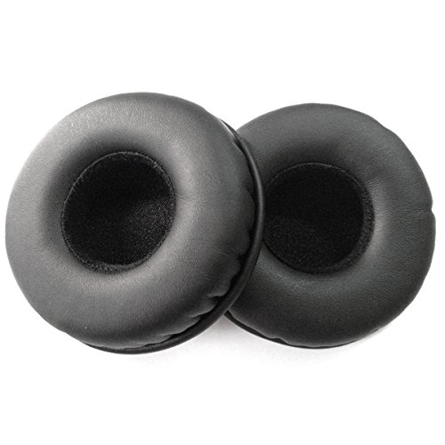 Foxnovo A Pair of Replacement Soft PU Foam Headphones Earpads Ear Pads Ear Cushions for AKG K518 K518DJ K518LE K81 SONY MDR-NC6 (Black) (Foam Pads For Headphones compare prices)