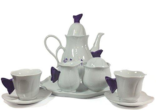 Fairy Butterfly Tea Party Ceramic Tea Set