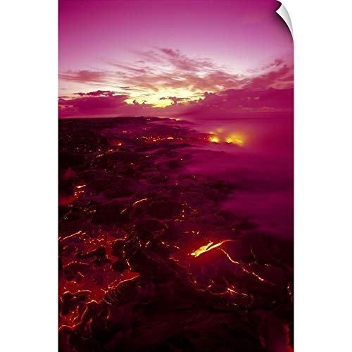 - CANVAS ON DEMAND Hawaii, Big Island, Hawaii Volcanoes National Park, Kilauea Volcano Lava Flow Wall Peel Art Pri.