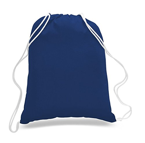 Great Deal! (12 Pack) 1 DOZEN Budget Friendly Sport Drawstring Backpack%100 Cotton Bags for Sport,Gym or Promotional Plain Backpacks (ROYAL) by Georgiabags (Image #4)
