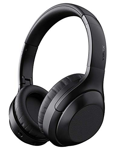 Noise Cancelling Headphones, VIPEX Bluetooth Headphones Wireless Headphone Over Ear with Microphone Hi-Fi Sound Deep Bass, Fast Charge, 30 Hours Playtime for Work Travel (Best Headphones For Bass And Noise Cancelling)