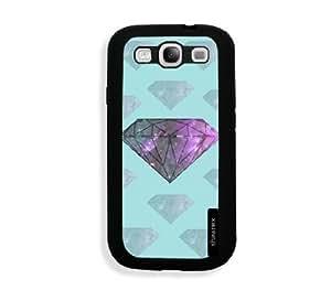 Galaxy S3 Case - Galaxy S III Case - Aqua Cute Galaxy Diamond Samsung Galaxy i9300 Case Snap On Case