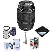 Canon EF 100mm f/2.8 USM Macro Auto Focus Lens, USA - Bundle with 58mm Filter Kit, Lens Cap Leash,Lens Cleaning Kit, Lens Wrap, Pro Software Package