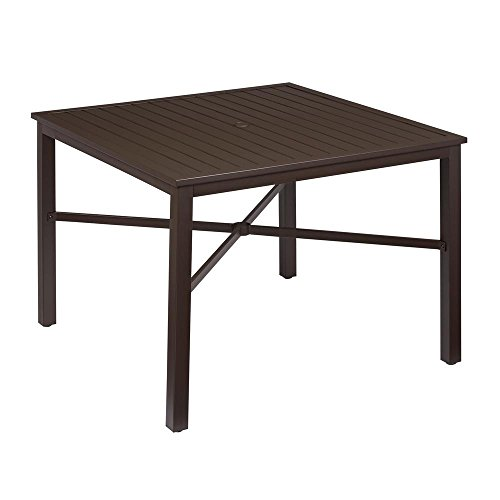 Hampton Bay Mix and Match Square Metal Outdoor Dining Table