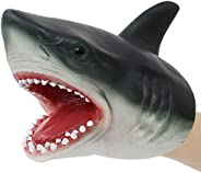Lebze Shark Hand Puppet for Toddlers, Soft Rubber Realistic Shark Puppets Toys for Kids