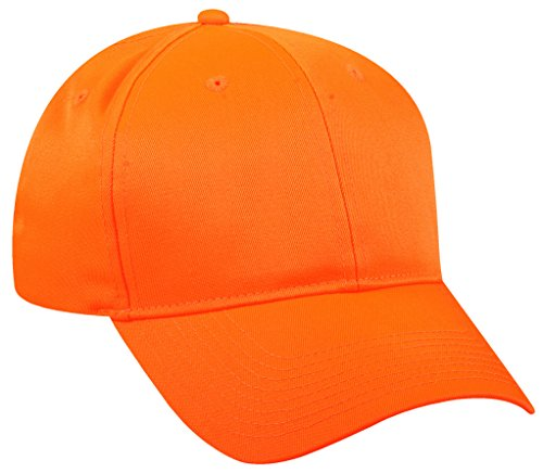 Outdoor Cap 6 Panel Mid Profile Blaze Orange -