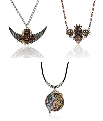 Steampunk Gear Necklace Large Cosplay