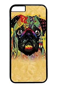 Custom then DIY Case for iphone 6 4.7, Colorful Pug Hard PC Back important Protective Case late for iphone out iphone 6 4.7