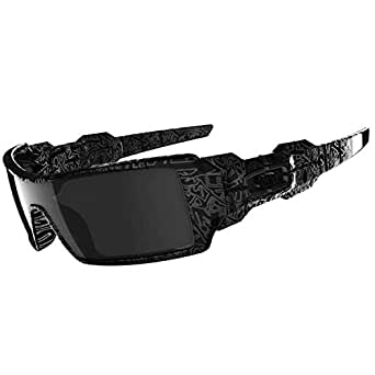 oakley sunglasses coloring pages | Amazon.com: Oakley Oil Rig - Polished Black / Ghost Text ...