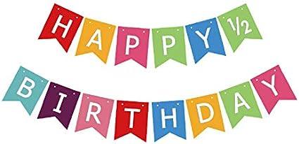 Half birthday boy banner Photo prop half  birthday decorations 12 birthday banner Football 12 Way To First banner