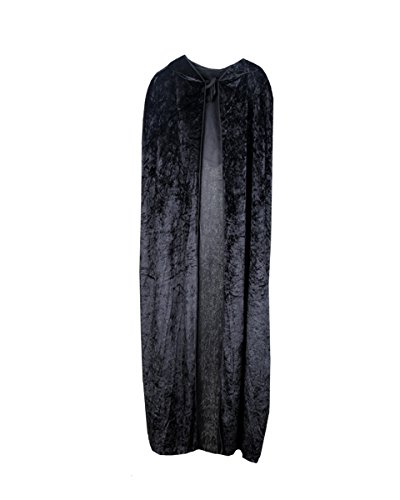 Hooded Cape Medieval Style Halloween Velvet Cosplay Cloak Costume Ball Fancy Dress