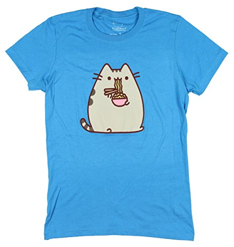 Pusheen Eating Ramen Girls T-Shirt Size : Small